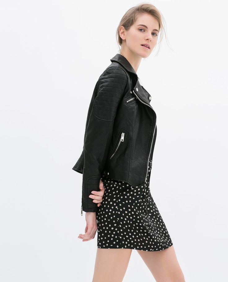 10 Chic Ways To Wear Your Moto Jacket #refinery29  http://www.refinery29.com/motorcycle-jackets#slide9  Whether your goal is to temper a moto jacket's toughness or give a dainty dress a little edge, the combo of a biker jacket and a sweet, retro-inspired frock is super appealing. Slip into a pair of banged-up ankle boots, and you're ready for whatever the day (or night) holds.