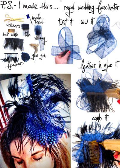 44 best fascinators hat diy images on pinterest headpieces royal wedding fascinator diy yes please solutioingenieria Gallery