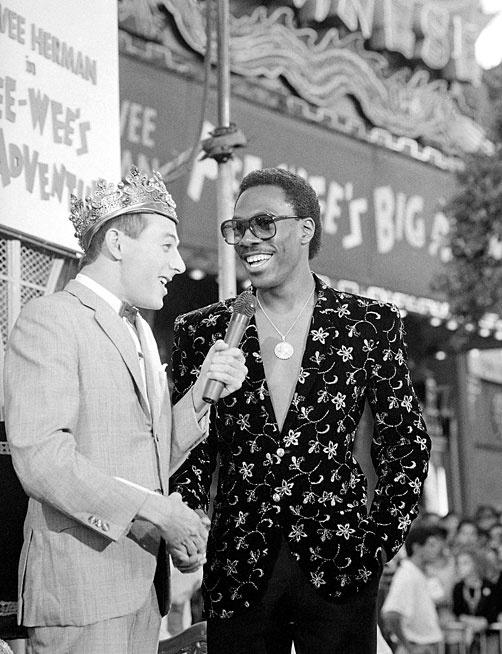 Pee Wee Herman with Eddie Murphy