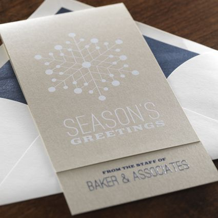 Snow Crystal eInvite Business Holiday Cards