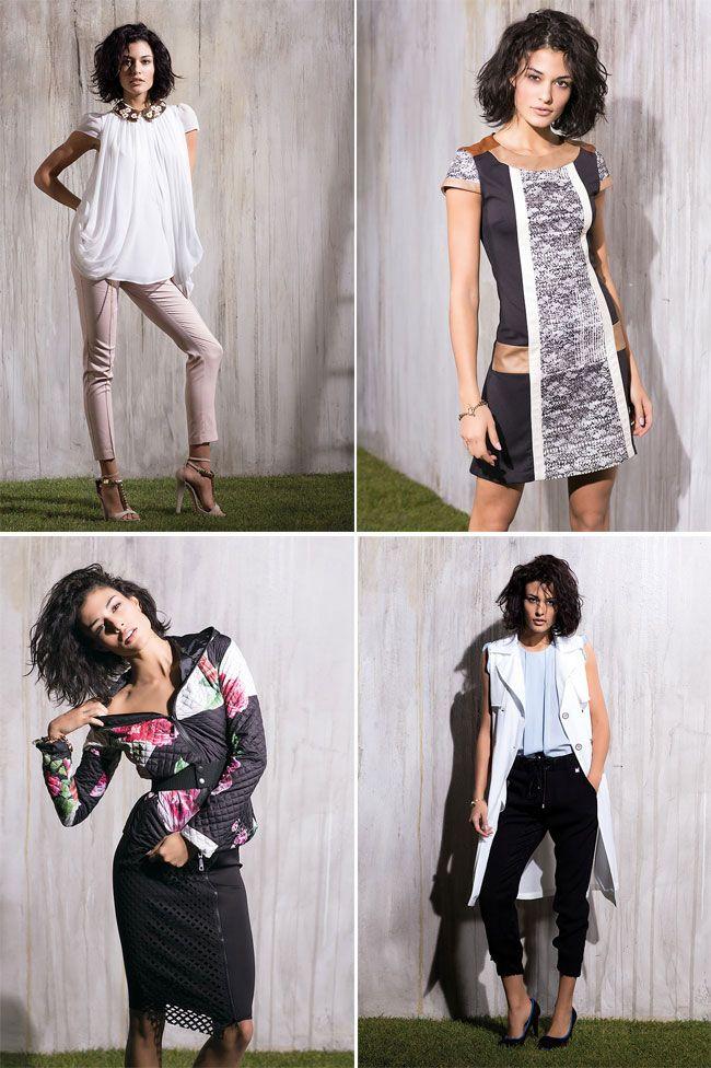 Un tuffo nella primavera più cool che verrà e una scelta cromatica versatile, data dai colori bianco e nero, che predominano gran parte della collezione primavera estate 2014 degli abiti da donna f…