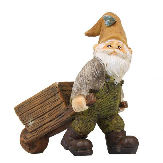 Wheelbarrow Gnome Fairy Garden Figurine  Fairy Garden Ideas