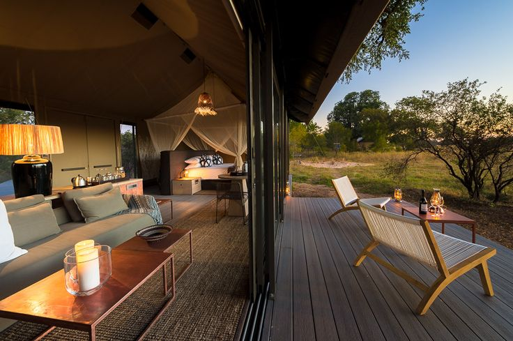 Luxurious guest tent at Linkwasha Camp