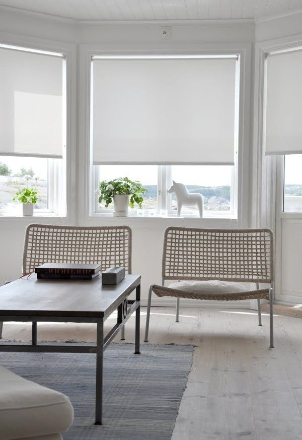 Sheer roller blinds in traditional window frames | Remodelista