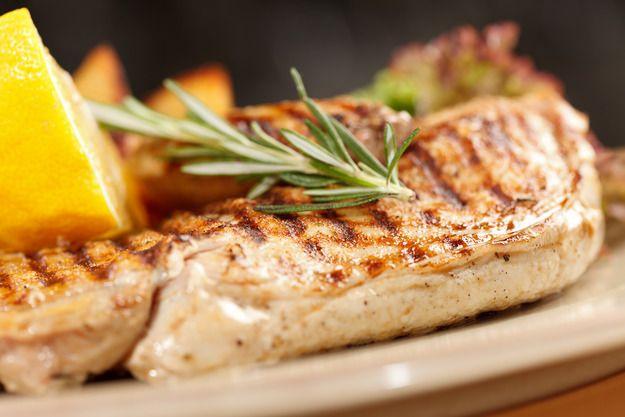 Сочная куриная грудка: как пожарить за 5 минут на гриле     Куриная грудка 1 шт.     Розмарин 3 веточки     Копченая соль (или обычная)по вкусу     Свежемолотый черный перец по вкусу     Оливковое масло для обжарки