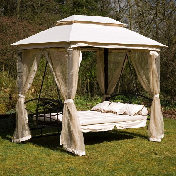 1 x gazebo swing bed with specially designed to keep the air flow through