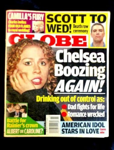 British royal family & scandalous Hollywood gossip! RARE 2005 GLOBE CELEBRITY CHELSEA CLINTON WHITNEY HOUSTON CAMILLA PRINCE CHARLES UK ROYALS - on eBay! $0.98