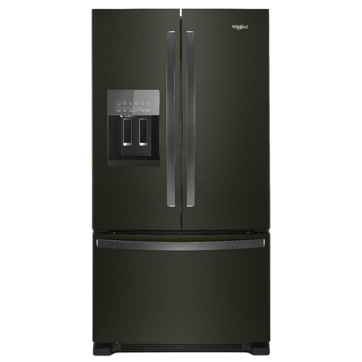 Frigidaire 26 8 Cu Ft French Door Refrigerator With Ice Maker Black Stainless Steel Energy Star Lowes Com In 2020 French Door Refrigerator Black Stainless Steel Refrigerator