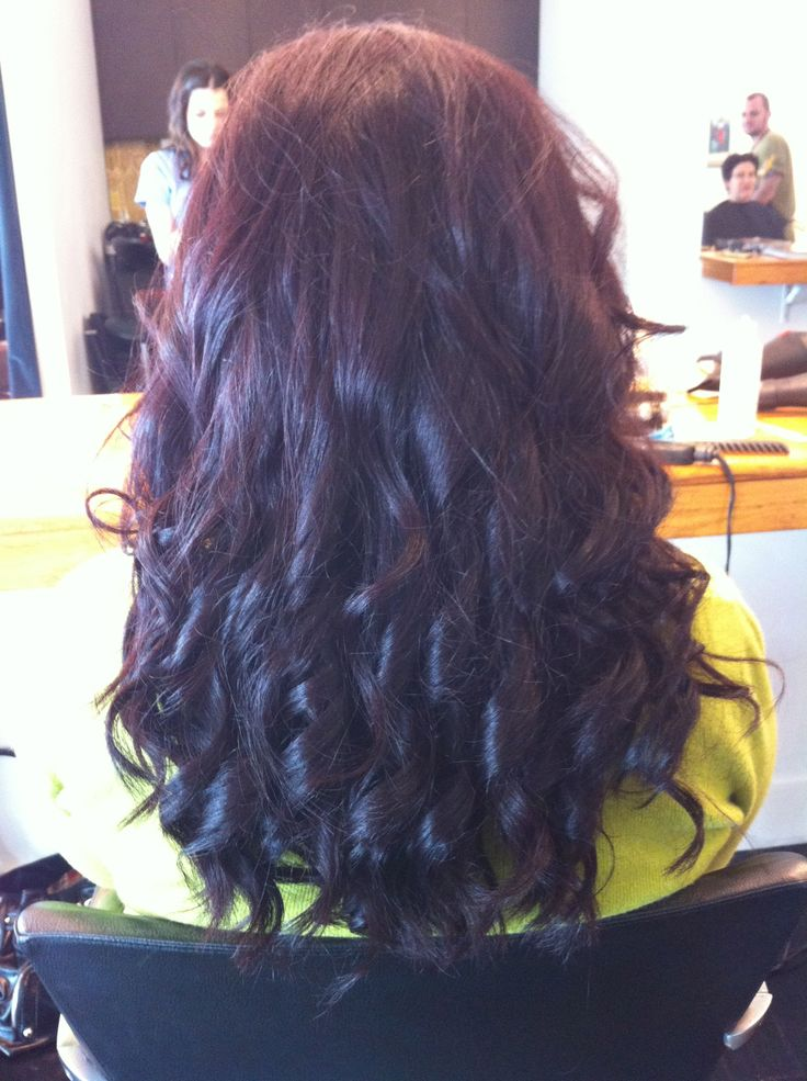 My hair done by my daughter during her hairdressing apprenticeship.