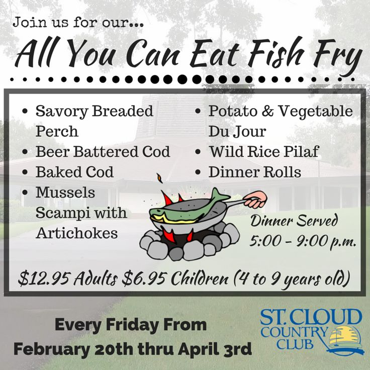 32 best cmwa rehearsal dinners images on pinterest for All you can eat fish fry