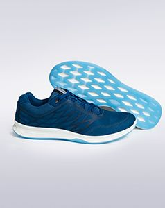Sportswear meets leisurewear with these relaxed leather upper trainers. Crafted with yak nubuck leather, these plush shoes feature contrast detailing, subtle embossing and a fashionable feel. Flexible and lightweight with foam-injected midsoles for comfort, these trendy trainers offer advanced technology as well as attractive styling. #ladies #shoes #trainers #stylish