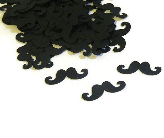 Mustache Confetti - Handlebar Mustaches - 100 Pieces