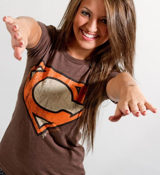 Cleveland Brown Women's Superman Cleveland Browns Edition Cleveland Brown jerseys