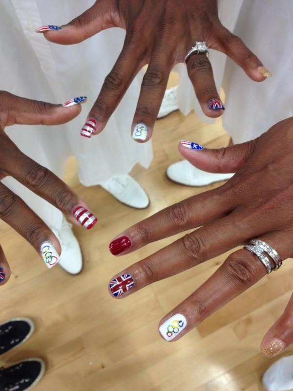 Lady Olympian Volleyball players staying stylish!!!  #Olympics  Twitter / RalphLauren: Team USA Volleyball stays ...