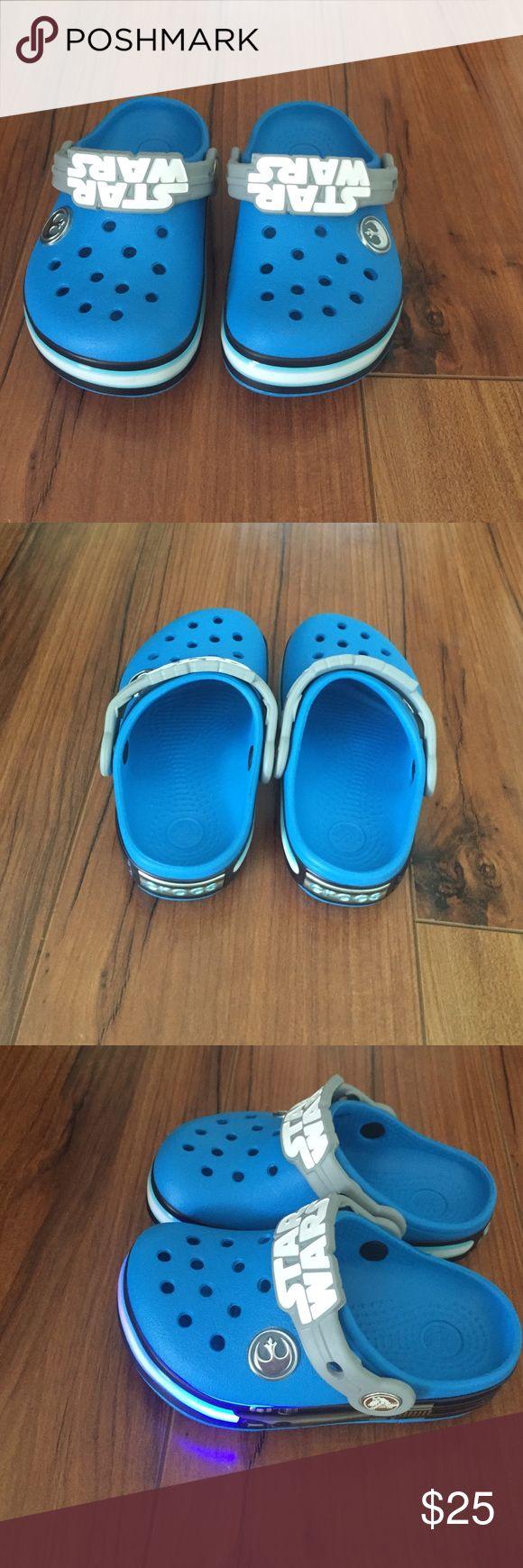Boys crocs Toddler crocs for sale. They never been worn! Sparkling when walking! Brand new! CROCS Shoes Sandals & Flip Flops