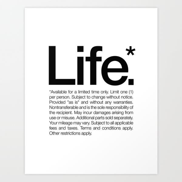 Life by words brand inspirational quote word art print motivational poster black white motivationmonday minimalist