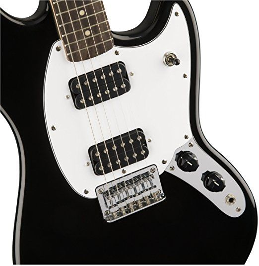 Squier by Fender Bullet Mustang Electric Guitar - HH - Rosewood Fingerboard - Black.    Cheap Electric Guitars  Gibson Guitars  Cheap Guitars  Guitar Price  Guitar Strings  Left Handed Guitar  Guitar Stand  Electric Guitar Strings  Ibanez Guitars  Les Paul Guitar  Classical Guitar  Guitar For Kids  Guitar Electric  Fender Electric Guitar