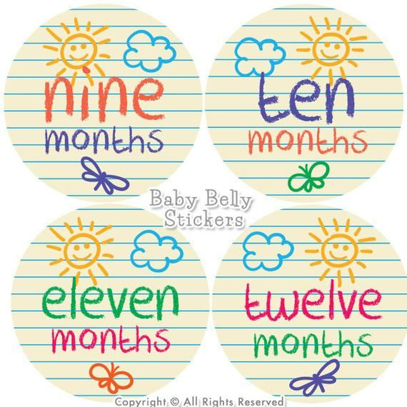 Baby Month Stickers Monthly Baby Stickers Bodysuit Stickers Monthly Milestone Stickers Baby Monthly Stickers Baby Belly Stickers Baby Month Stickers Baby Month By Month Month Stickers