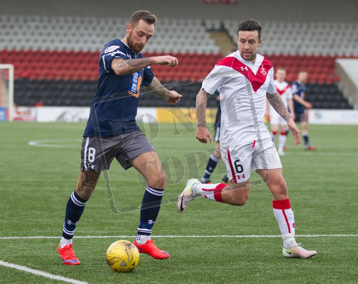 Queen's Park's Darren Miller in action during the Ladbrokes League One game between Airdrieonians and Queen's Park. P