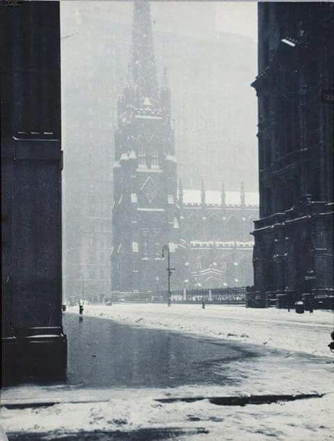 Holy Trinity church in the winter - Drahomir J Rusikar, c1923