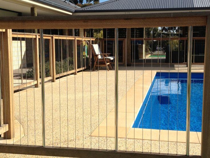 Modern Timber Pool Fencing