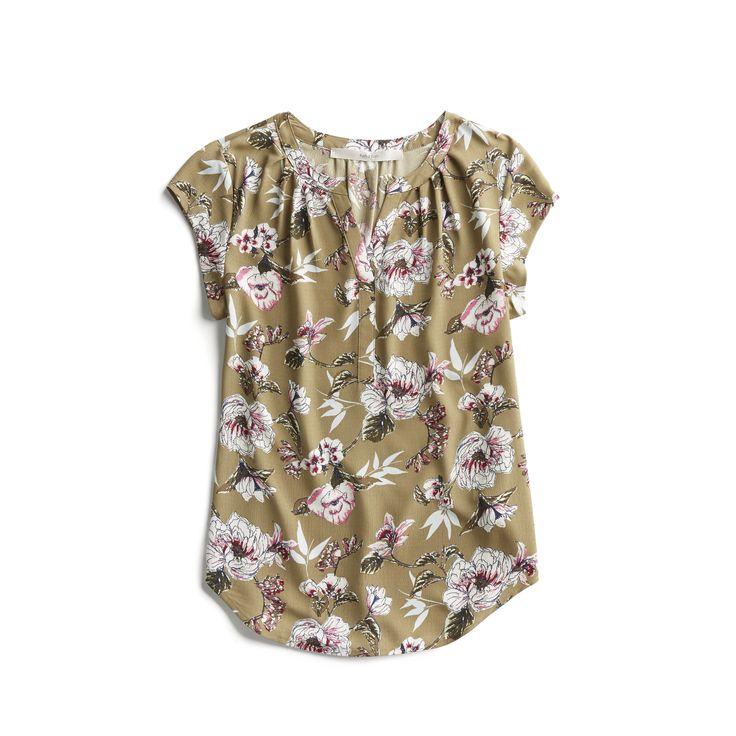 Stitch Fix Spring Stylist Picks: floral cap sleeve blouse