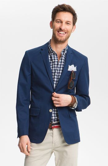 Get John W. Nordstrom's Cotton Blazer!  It comes in three great colors!! Navy, Red and Green!  Just in time for the Spring party season!!     #Nordstrom