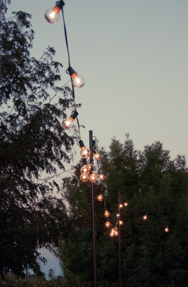 Garden String Lights Pinterest : {DIY}: Outdoor String Lights Outdoor Ideas Pinterest Outdoor string lighting