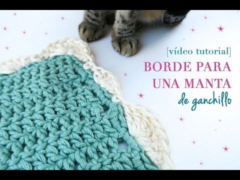 Cómo hacer un borde para manta de ganchillo | Crochet border for blanket