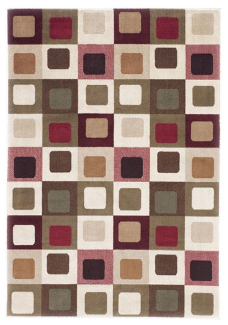 Shop For The Signature Design By Ashley Contemporary Area Rugs Sloane   Red  Rug At Pilgrim Furniture City   Your Hartford, Bridgeport, Connecticut  Furniture ...