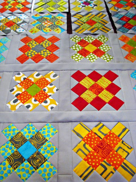 "Gorgeous quilt made with Malka Dubrawsky's 'A Stitch in Color"" fabrics! by Sarah.WV"
