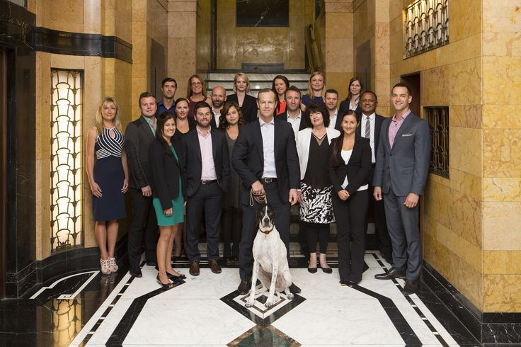 Our latest staff photo in the Old South British Building foyer http://www.potentia.co.nz/AboutUs.aspx