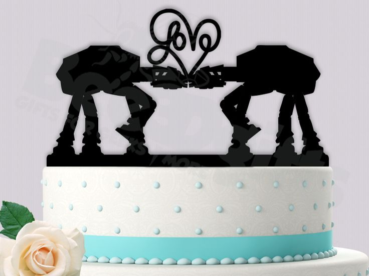 28 best star wars wedding images on pinterest cake wedding star love heart at at kiss starwars inspired event wedding cake topper junglespirit Gallery