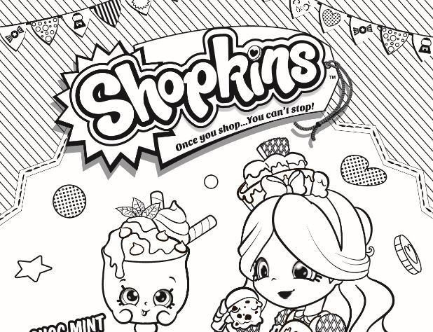 Shopkins - Coloring pages