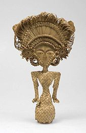 Cili, a Balinese Dewi Sri effigy from lontar palm leaf. Dewi Sri, or Shridevi (Dewi literally means goddess) (Javanese), Nyai Pohaci Sanghyang Asri (Sundanese) is the Javanese, Sundanese, and Balinese pre-Hindu and pre-Islam era goddess of rice and fertility, still widely worshipped on the islands of Bali and Java. Despite her mythology is native to the island of Java, after the adoption of Hinduism in Java as early as first century, the goddess is associated with the Hindu goddess Lakshmi…