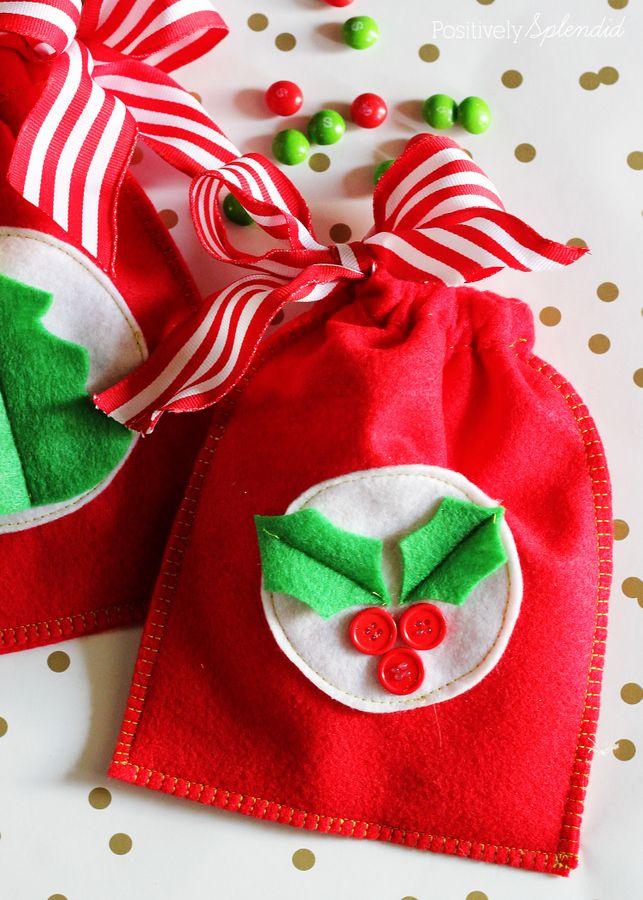 DIY Reusable Felt Gift Bags