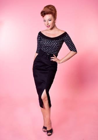 Vogue Pencil Skirt - Black