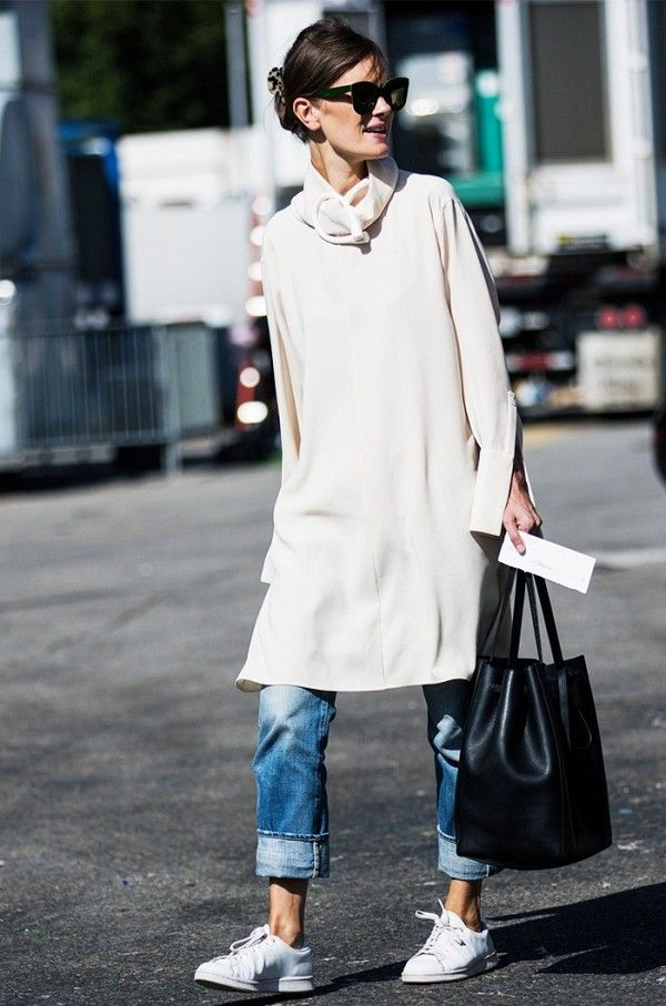 Jo Ellison's off-duty incorporates playing with proportions.