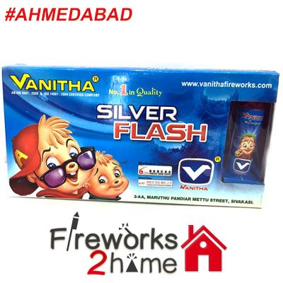 Buy online Silver Flash (Sky Shots)  by Vanitha  -  Fireworks2home.com Ahmedebad   http://www.fireworks2home.com/