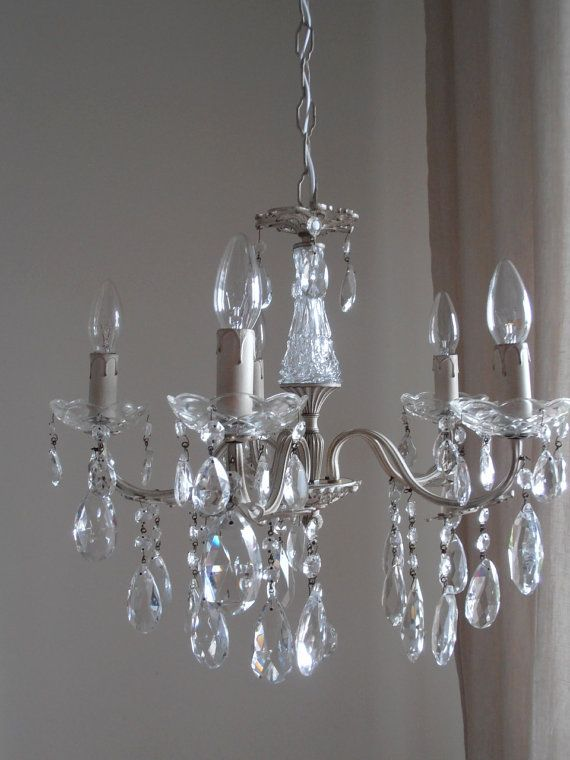 Ivory GLASS crystal chandelier Italian by MilanChicChandeliers - 64 Best Milan Chic Chandeliers Images On Pinterest Milan