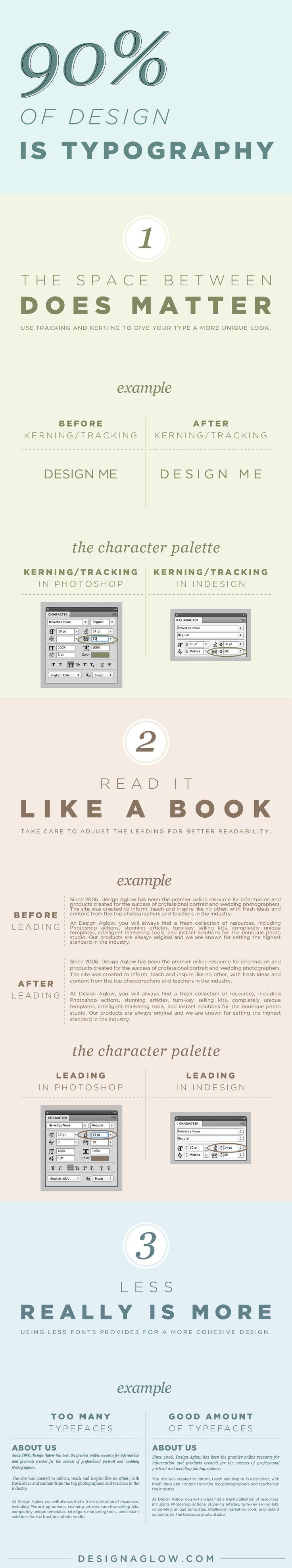 El 90% del diseño es tipografía #infografia #infographic #design