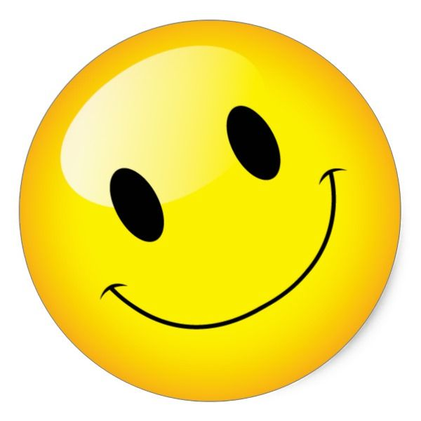 Yellow Emoji Birthday Party Happy Face Symbol Classic Round ...
