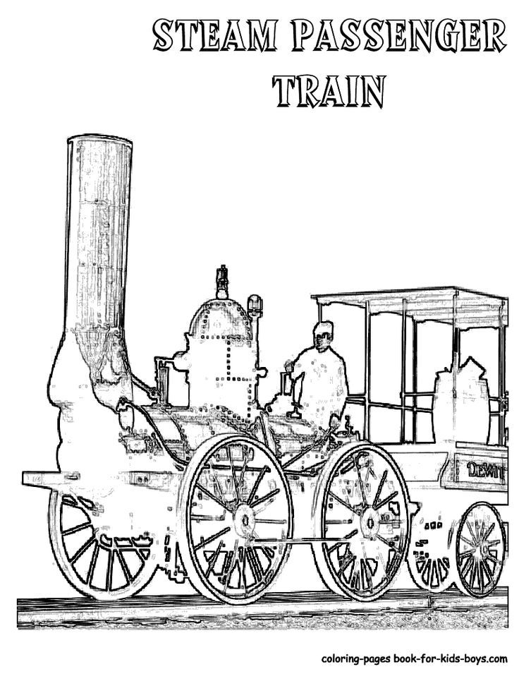 Kids Train Coloring Page Of Old Fashioned Steam Engine Train In 2020 Train Coloring Pages Kids Training Coloring Pages