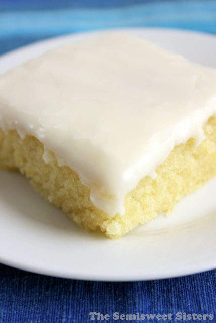 White Texas Sheet Cake. Super moist! Easy to make!