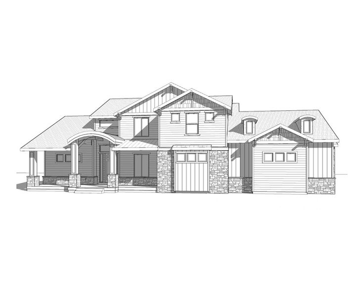 Rockport 2 story craftsman style house plan walker for Walker home design
