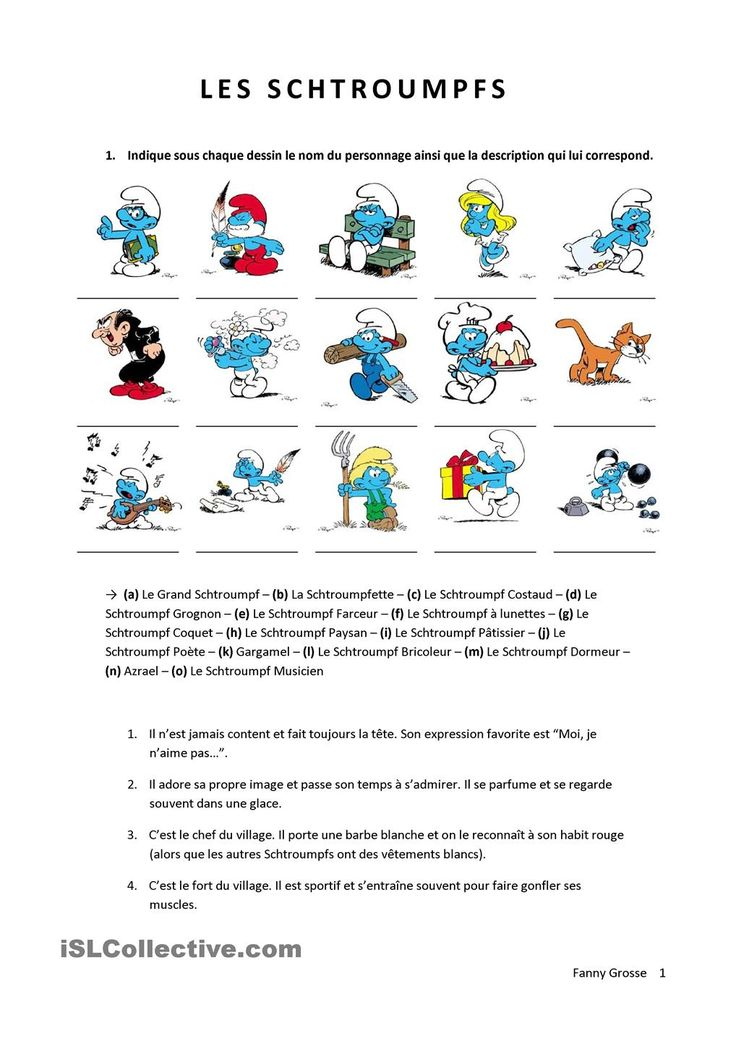 Les schtroumpfs - La description