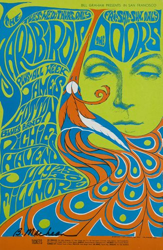 the doors james cotton blues bandrichie havens july fillmore auditorium san francisco ca art by bonnie maclean
