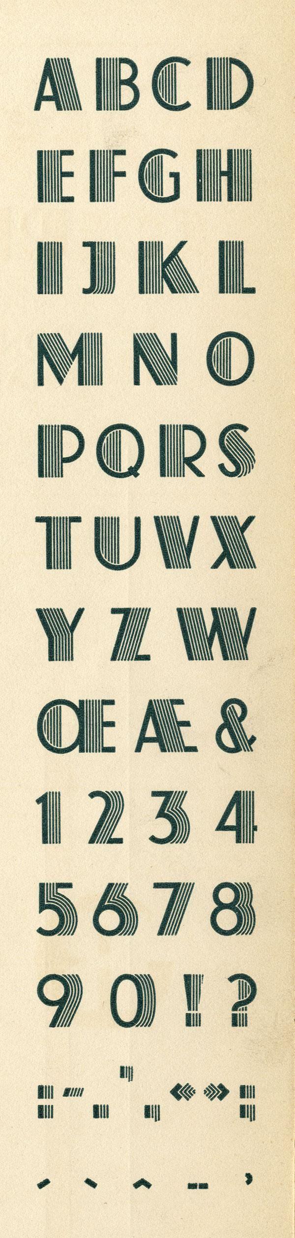 Atlas Exemple, Schaeffer, K. H., Fonderie Typographique Française