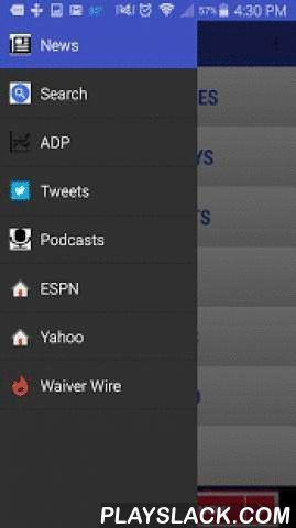 Fantasy Football News 2015  Android App - playslack.com , Stay up to date with the latest news using the free Fantasy Football News 2015 app. You'll have access to several top RSS feeds, player values updated daily, and a twitter stream of fantasy experts. Good luck winning your fantasy football league!This app is not associated with the National Football League or any RSS feed publishers.