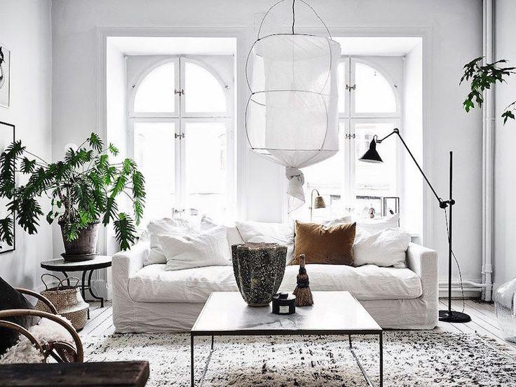 Kreative Wohnzimmergestaltung Skandinavischer Art: Wohnen In Weiß